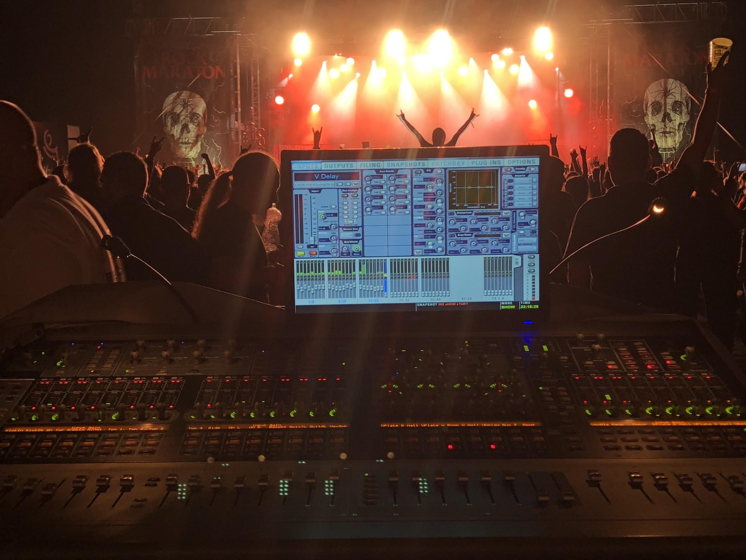 audio engineering recent work bands orden ogan foh