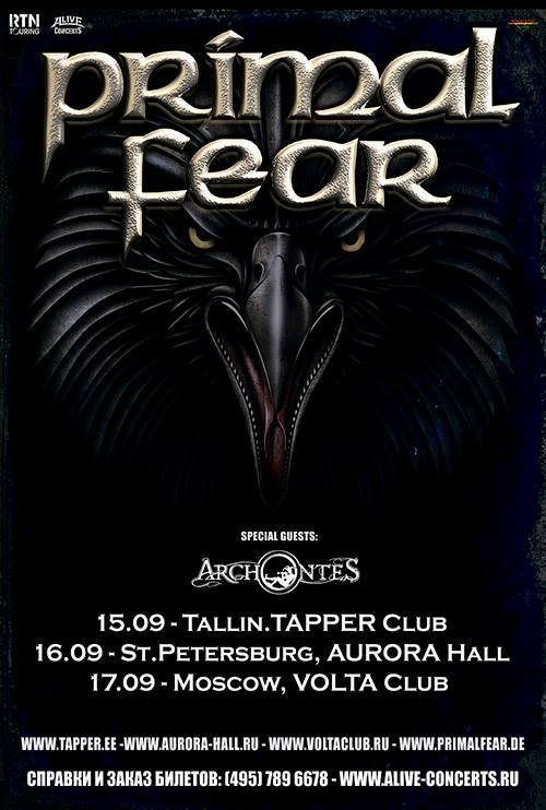 audio engineering recent work touring primal fear