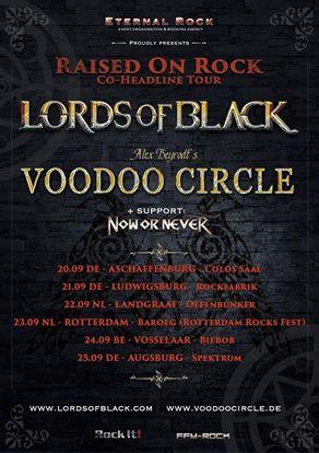 Audioengineering Touring Voodoo Circle + Lords of Black Flyer