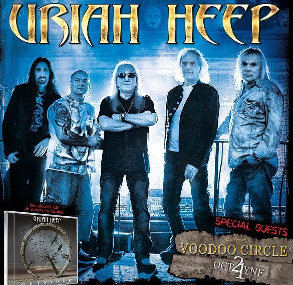 Audioengineering Touring Voodoo Circle +Uriah Heep Flyer