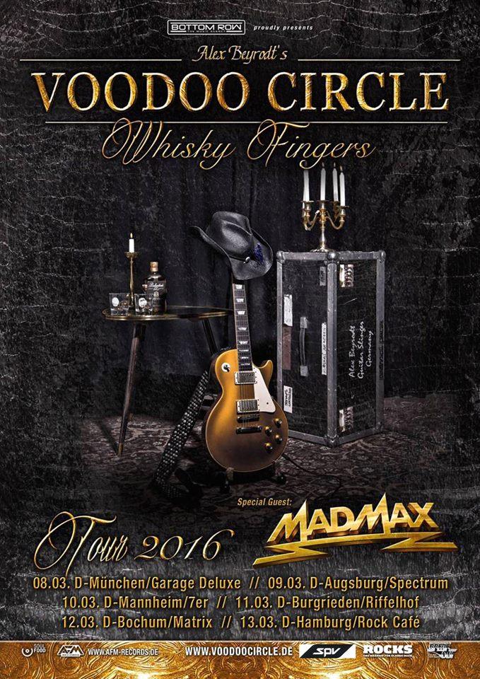 Audioengineering Touring Voodoo Circle Whisky Fingers Flyer